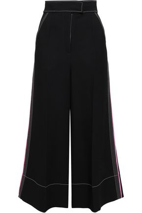 ROKSANDA Striped wool, silk and cotton-crepe culottes