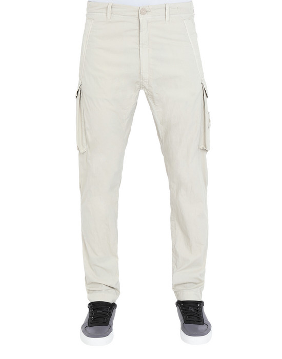 STONE ISLAND Trousers 314F2 GHOST PIECE_COTTON NYLON TELA