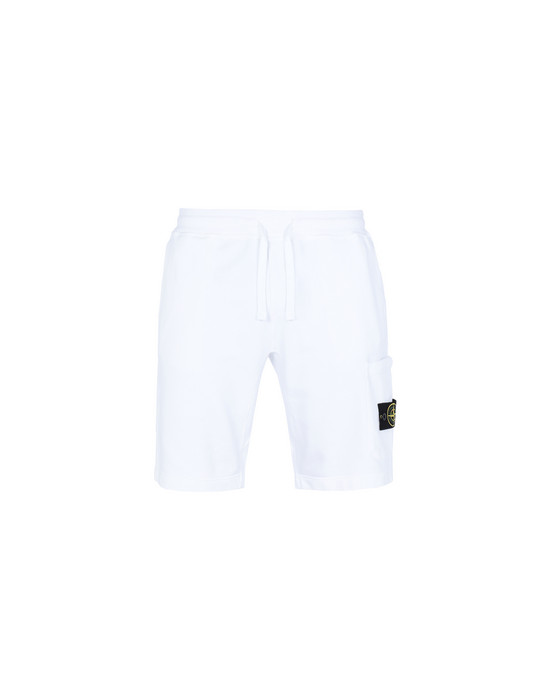 STONE ISLAND FLEECE BERMUDA SHORTS 64651