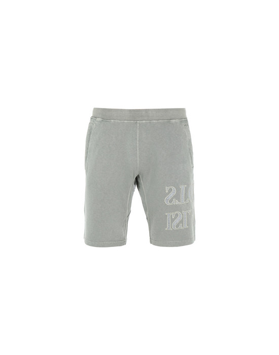 STONE ISLAND FLEECE BERMUDA SHORTS 62661 'OLD' DYE TREATMENT