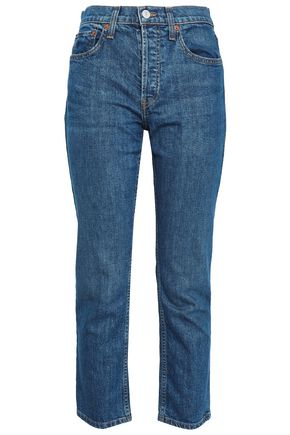 RE/DONE Cropped high-rise slim-leg jeans