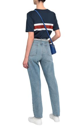 RE/DONE Mid-rise faded straight-leg jeans