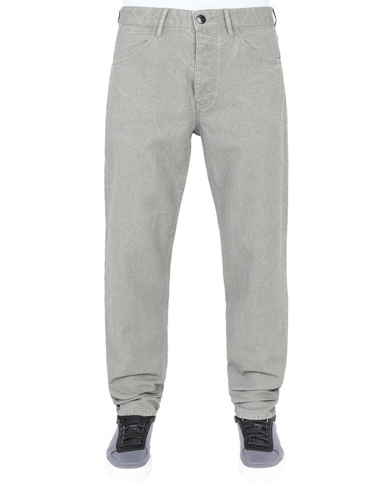 Trousers J02J1 PANAMA PLACCATO RE-T STONE ISLAND - 0