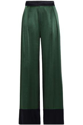 MICHAEL LO SORDO Striped wool-twill wide-leg pants