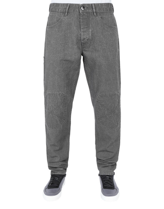 Trousers J03J1 PANAMA PLACCATO RE-T STONE ISLAND - 0