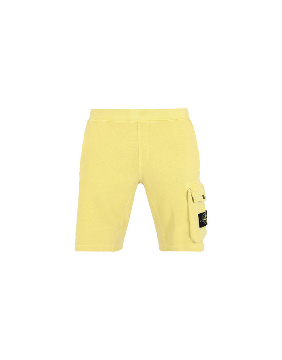 STONE ISLAND FLEECE BERMUDA SHORTS 65860 'OLD' DYE TREATMENT
