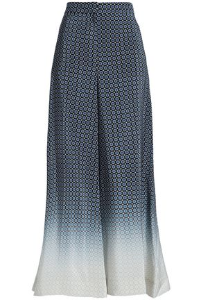 STELLA McCARTNEY Dégradé silk wide-leg pants