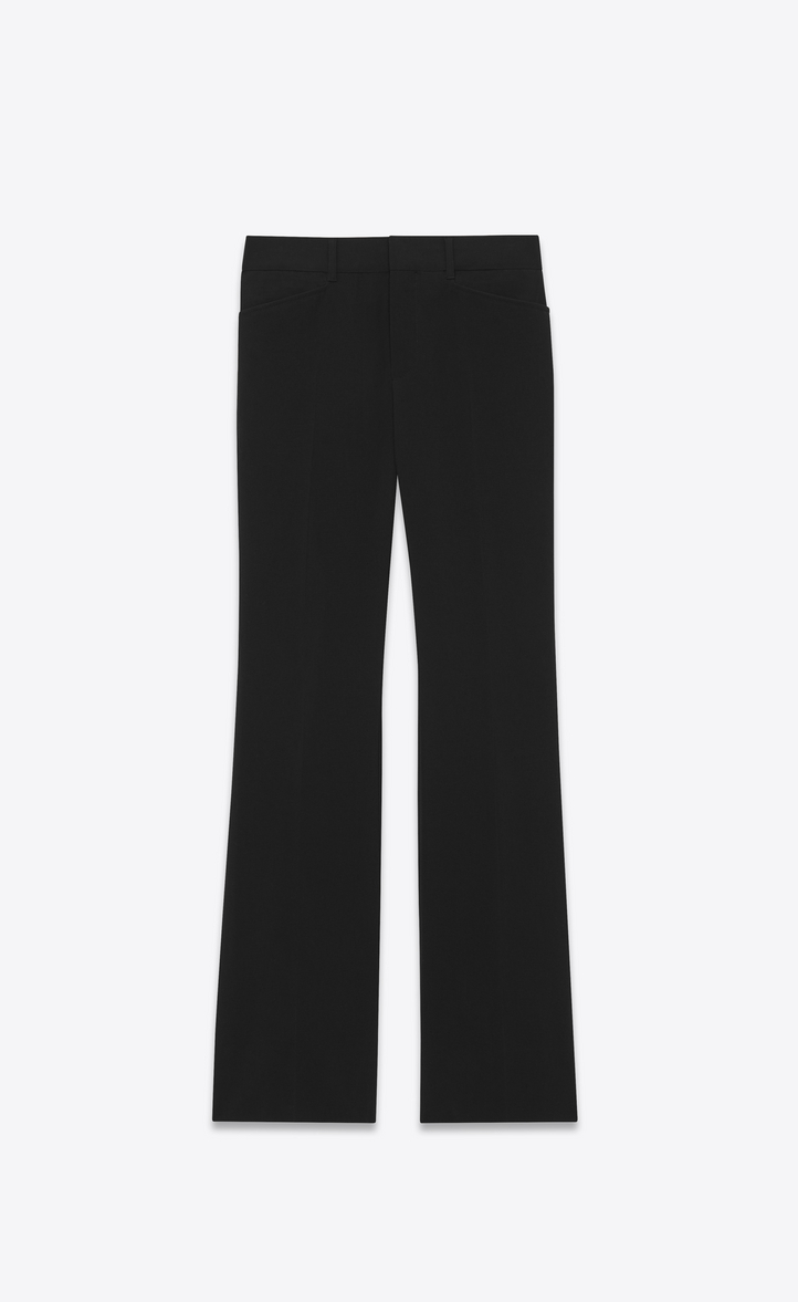 c0a51819c1cd Wool canvas flared pants