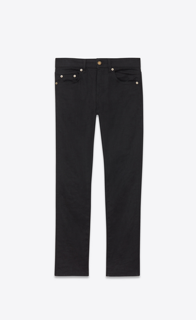 Used black stretch denim cropped skinny jeans
