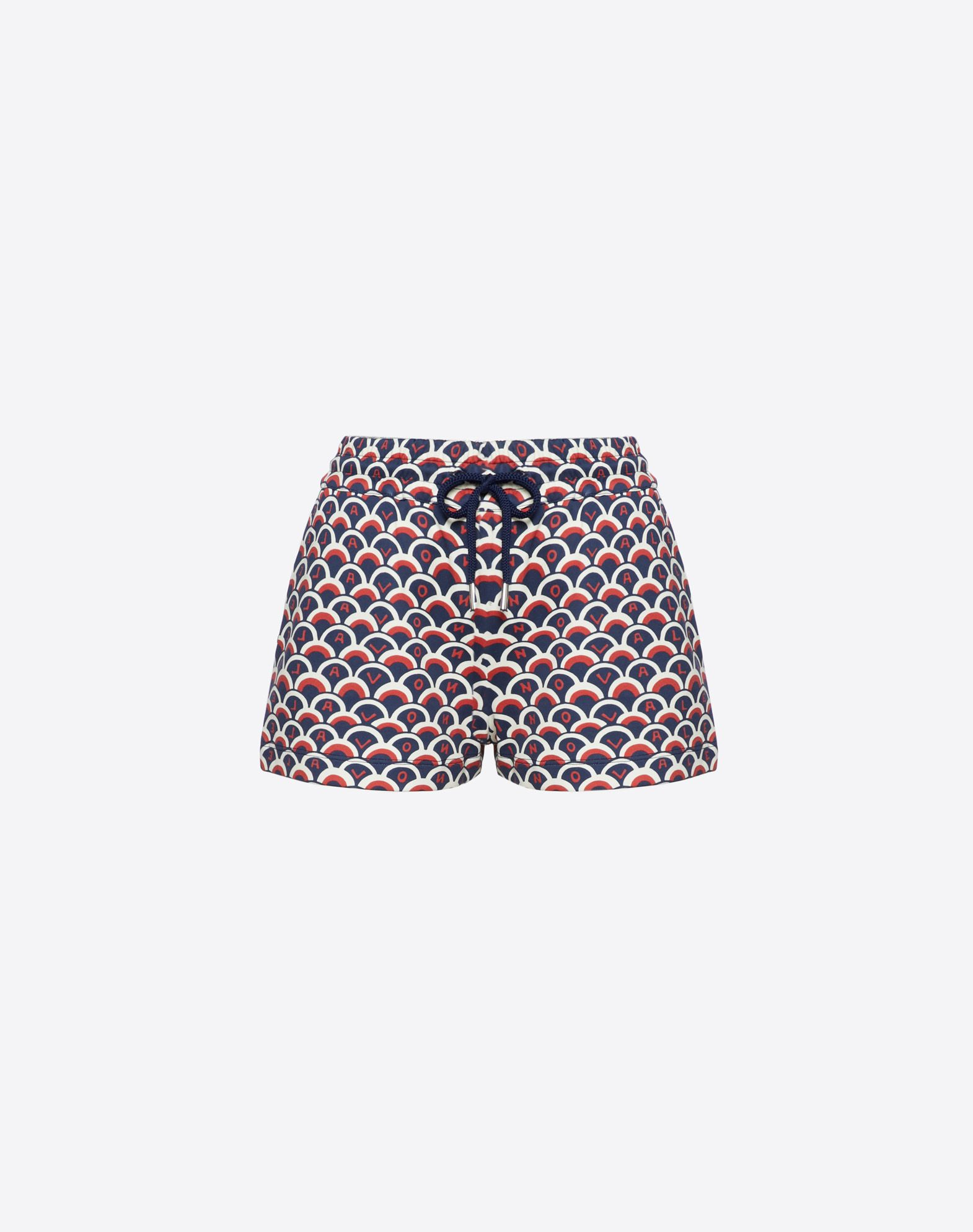 Valentino Scale Cotton Jersey Shorts