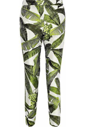 OSCAR DE LA RENTA Jacquard tapered pants