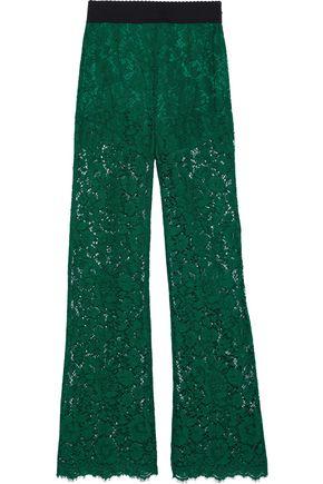 DOLCE & GABBANA Corded lace wide-leg pants