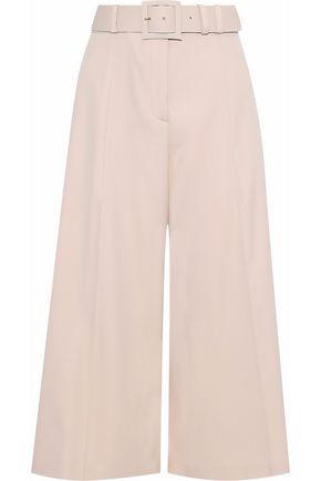 OSCAR DE LA RENTA Belted stretch-wool twill culottes