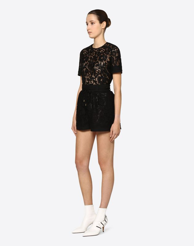 Shorts in Crepe Couture e Heavy Lace