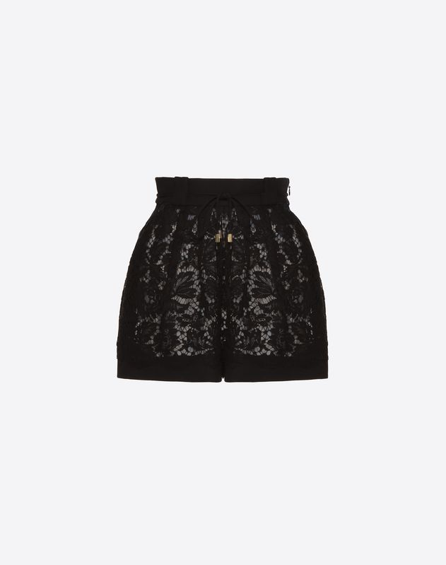 Short en crêpe couture et guipure