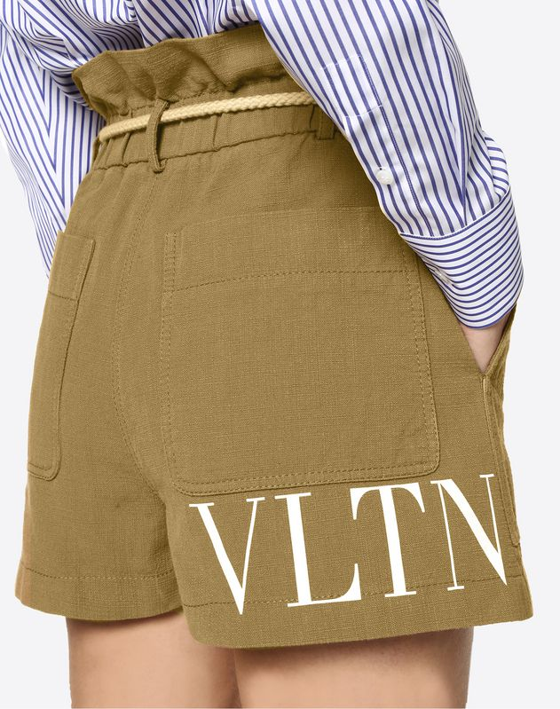 VLTN Malfilé Cotton Shorts