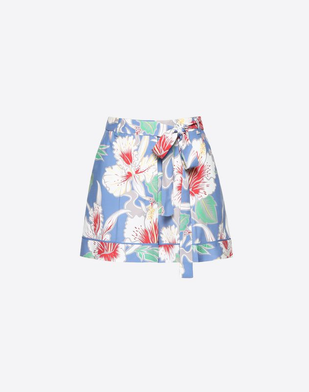 Hawaiian Hibiscus Viscose Canvas Shorts