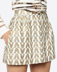 Tussah Logo Brocade Shorts