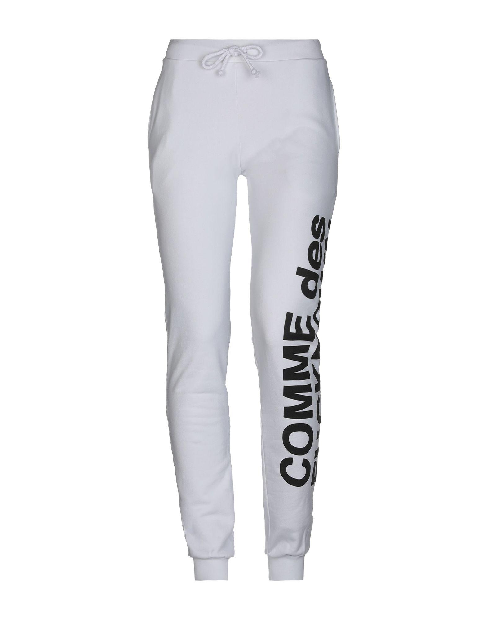 《セール開催中》COMME DES FUCKDOWN レディース パンツ ホワイト S コットン 100%