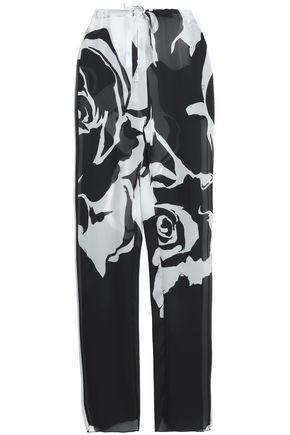 EMILIO PUCCI Floral-print silk-chiffon wide-leg pants