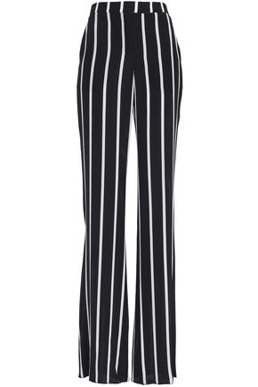 EMILIO PUCCI Striped silk crepe de chine wide-leg pants