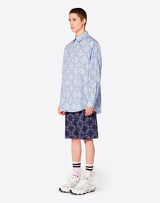 VLTN GRID PLAIN BERMUDA SHORTS