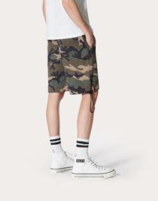 迷彩印纹百慕大短裤