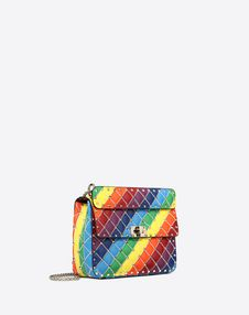 2c7aa0a478 Medium rainbow color Rockstud Spike.it bag for Woman | Valentino ...