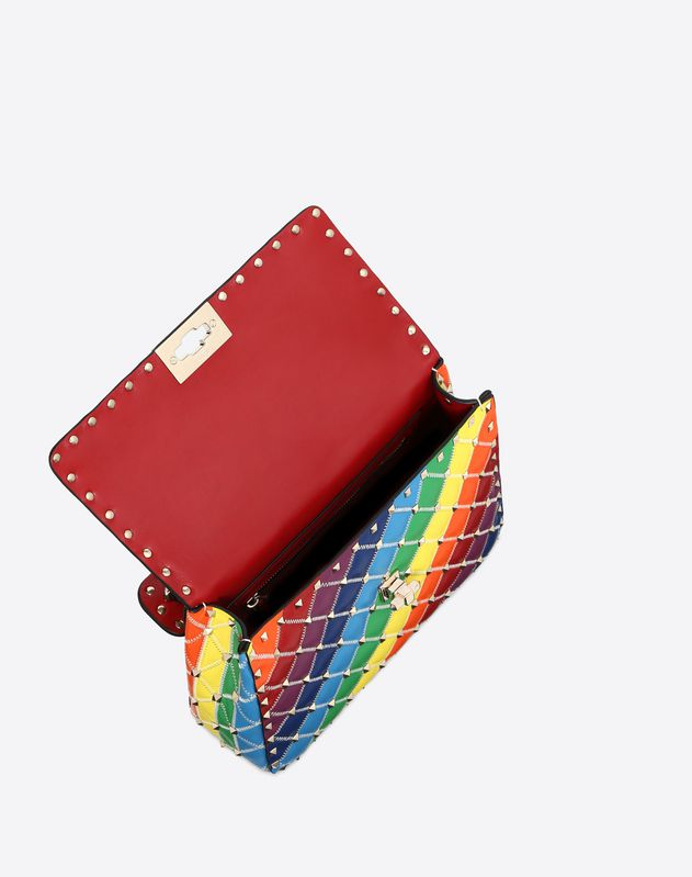 Medium rainbow color Rockstud Spike.it bag