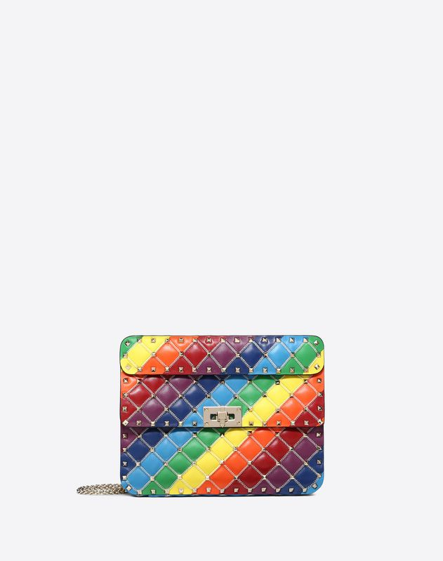 Medium rainbow colour Rockstud Spike.it bag