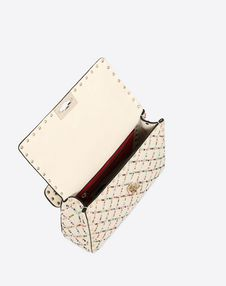 Medium rhombus beads embroidery Rockstud Spike.it bag