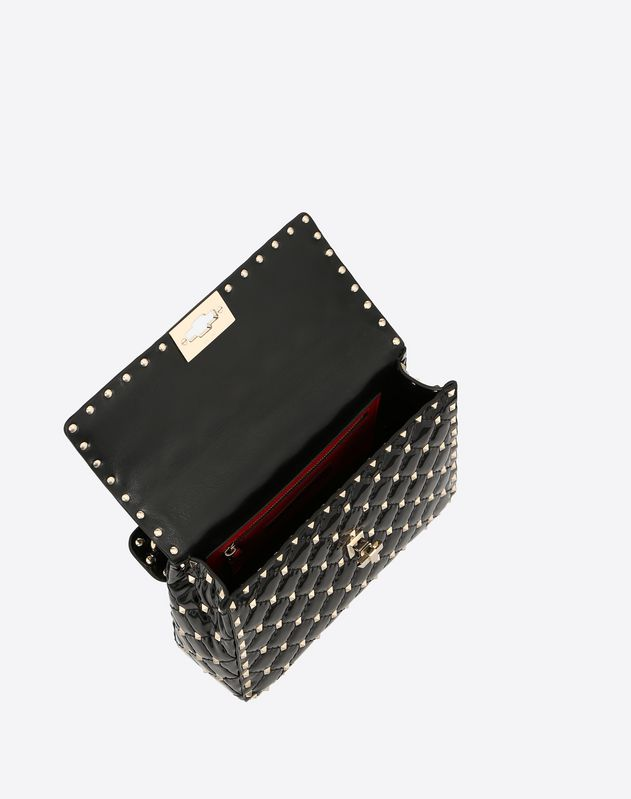 Medium Patent Rockstud Spike Bag