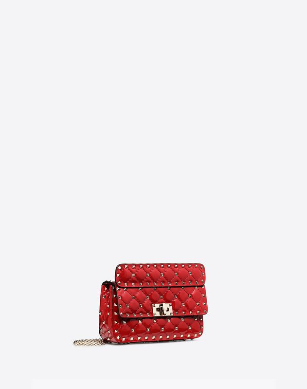 Small Patent Rockstud Spike Bag