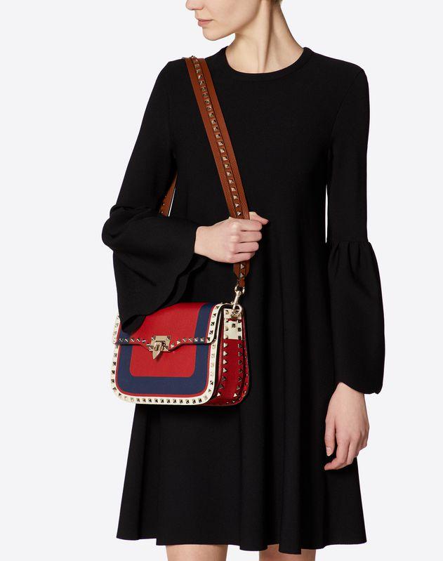 Medium Inlayed Rockstud Crossbody Bag