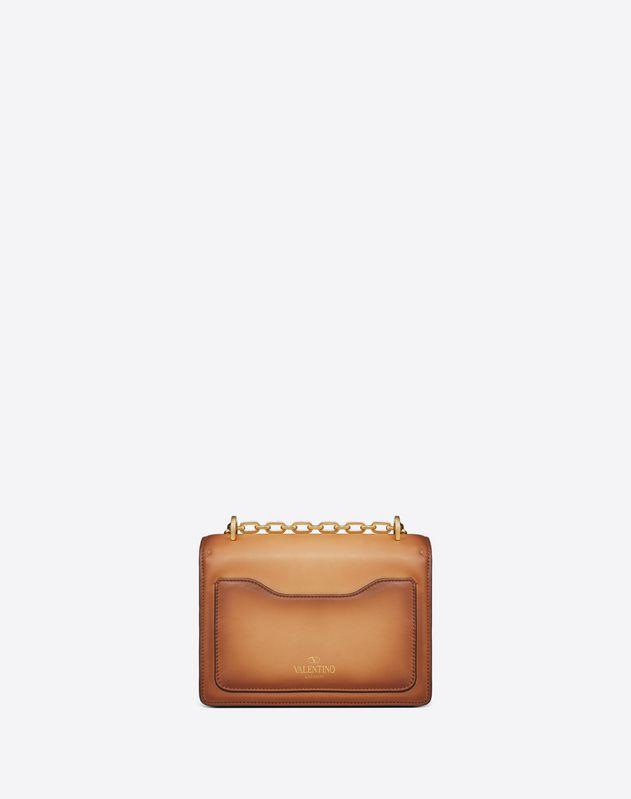 Small Burnished Calf Leather Uptown shoulder bag