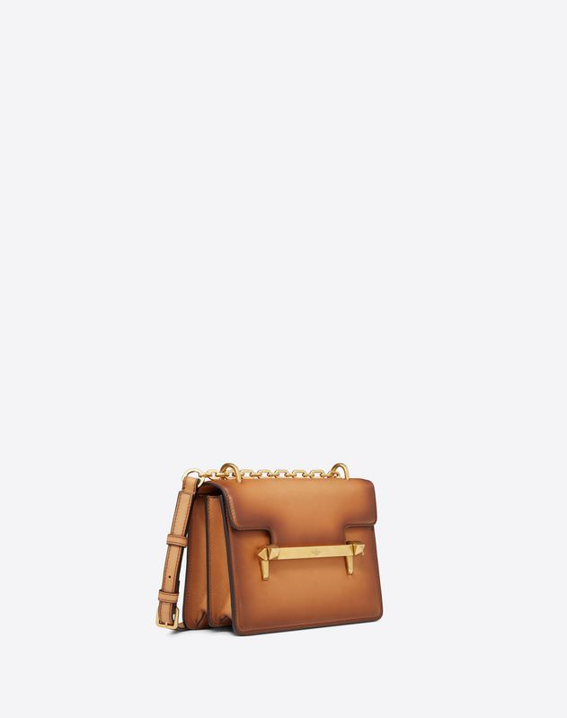 Small Burnished Calf Leather Uptown shoulder bag