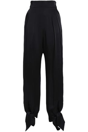 CHRISTOPHER KANE High-rise satin tapered pants