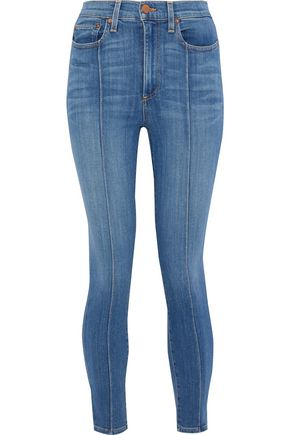 ALICE + OLIVIA JEANS Good cropped high-rise skinny jeans