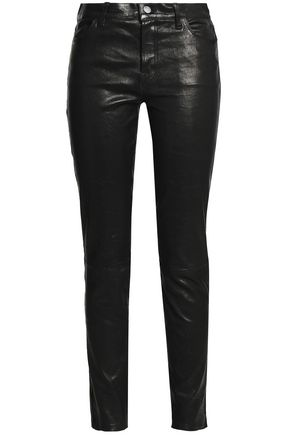 J BRAND Maude leather slim-leg pants