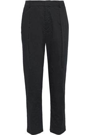 ALICE + OLIVIA Grady pleated cotton-blend tapered pants