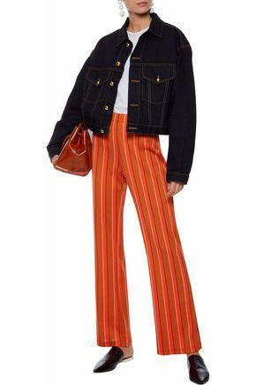 SIMON MILLER Cyrene striped cotton-blend wide-leg pants