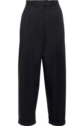 DOLCE & GABBANA Cropped stretch-cotton twill straight-leg pants