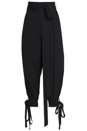 J.W.ANDERSON Bow-detailed faille harem pants