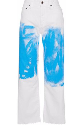 SIMON MILLER Elenda painted high-rise wide-leg jeans