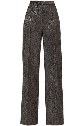 PERSEVERANCE Metallic jacquard wide-leg pants