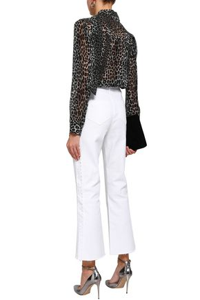 PERSEVERANCE Scallop-trimmed high-rise flared jeans