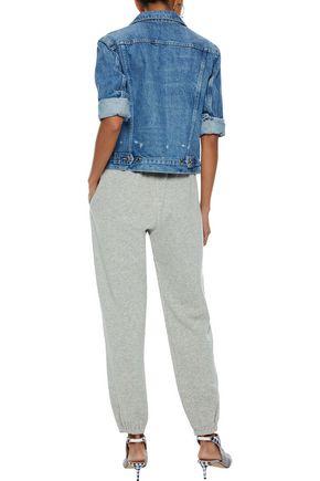 SIMON MILLER Mélange cotton-terry track pants