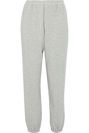 SIMON MILLER Mélange cotton-terry track pants
