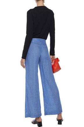 SIMON MILLER Hatton tie-front striped wide-leg pants
