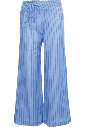 SIMON MILLER Hatton tie-front striped wide-leg pants